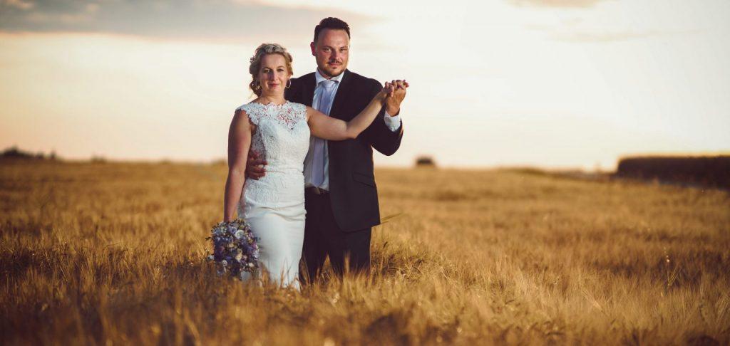 Svatební portréty při západu slunce, svatební fotograf Tomáš Kasal