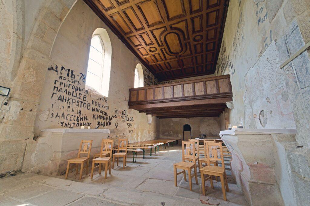 Kostel Svatého Mikuláše Boletice Kájov kůr a kazetový strop svatba a svatební fotograf Tomáš Kasal