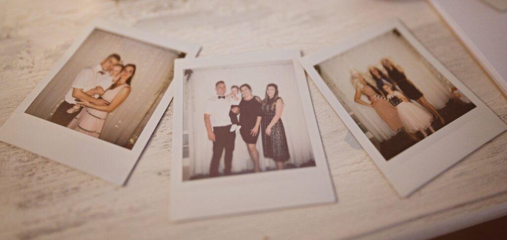 Zábava na svatbě - FUJI Instax square